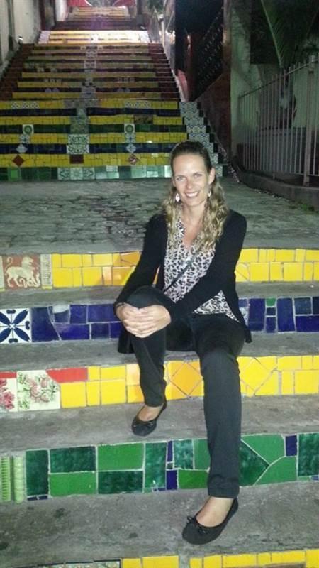 De mozaiek trappen in Lapa