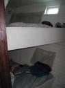 Mijn cabine en mijn bedje (bovenste)