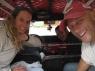 In de taxi