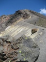 Tongariro crossing met mij in de verte