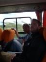 Bas en Patrick in de bus