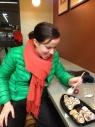 Sushi in de supermarkt met Starbucks roerstokjes