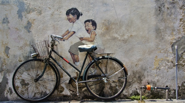fiets kunst in George Town