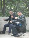 Muziek maken in het park